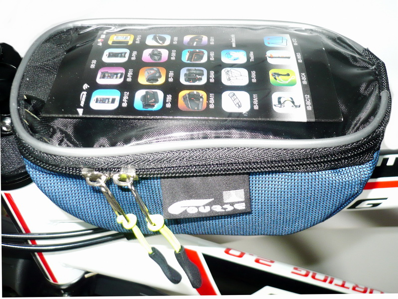 Сумка на раму Course, мастер, вс072.019, с карманом для смартфона, синяя