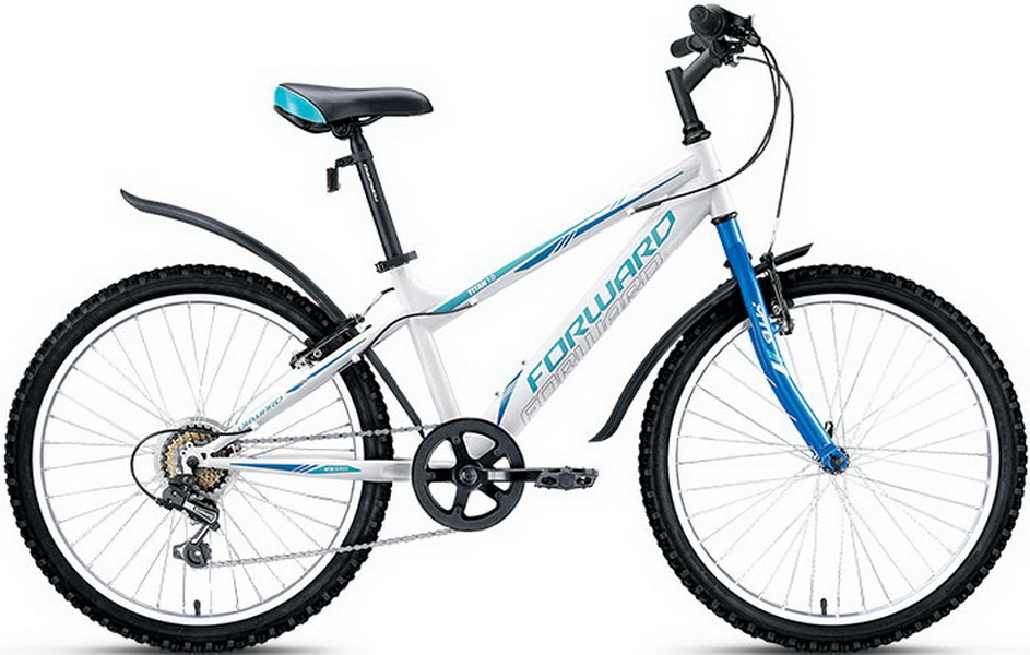 """Велосипед 24"""" Forward Titan 1.0 6ск, St, V-br, белый, 2018г."""