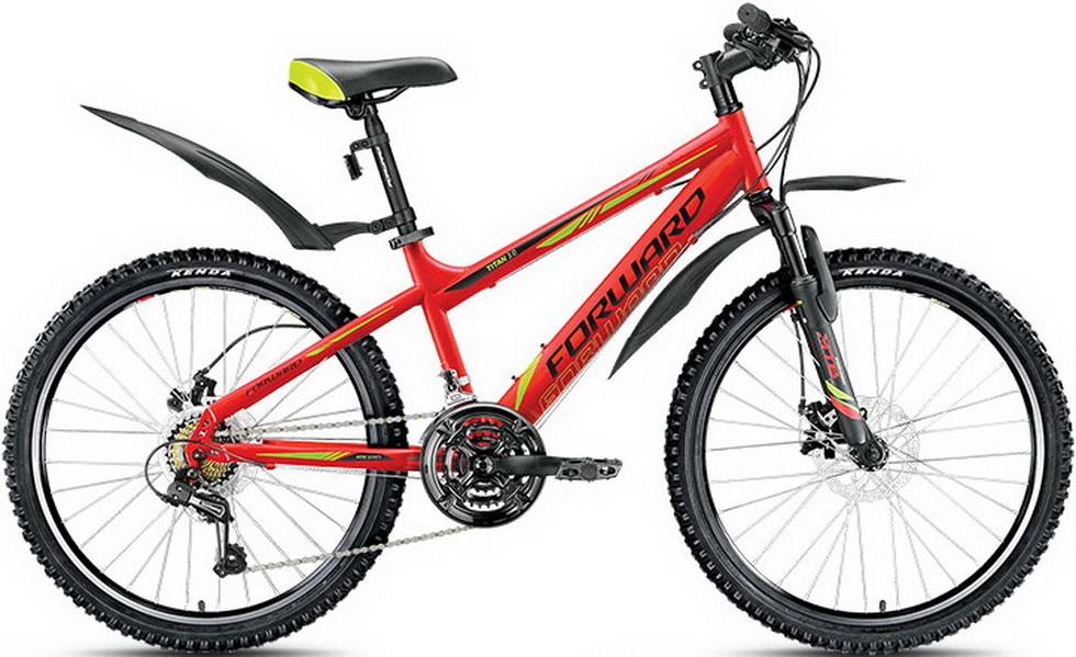 """Велосипед 24"""" Forward Titan 3.0 21ск, St, Disc, красный"""