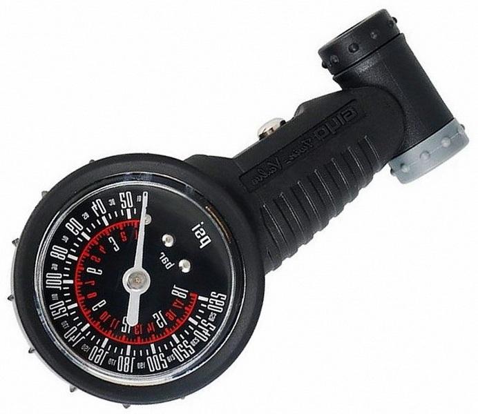 Манометр GIUO GG-02 пластиковый (Max. 260 PSI/18 Bar) A/V+ F/V   v