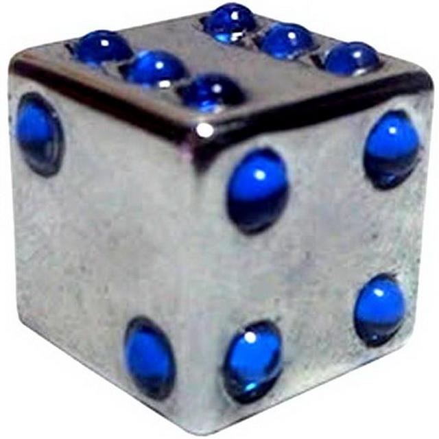 Колпачок (декоративный) A/V Chern Shianq, CSA-V11D, куб серебристый с синими отверстиями