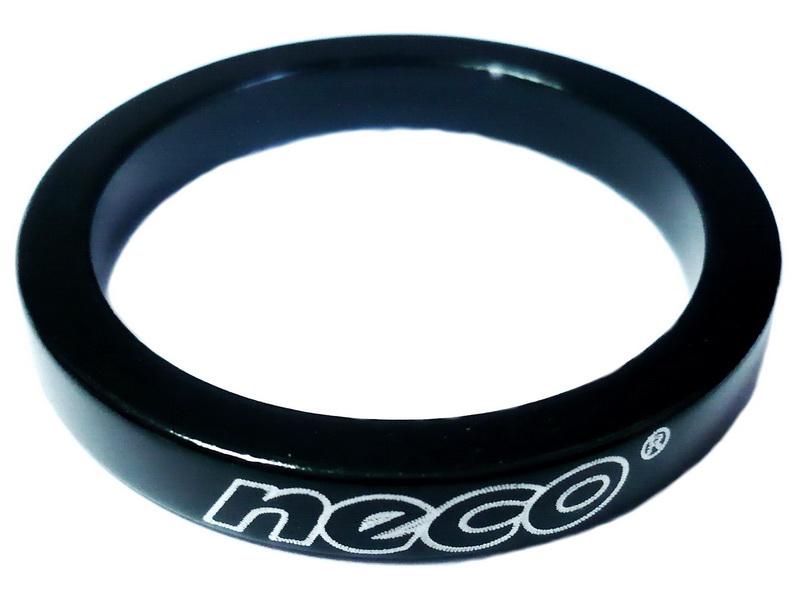 "Кольцо рулевой колонки 1-1/8"" H=5мм Neco AS3605 AL, чёрное   м"