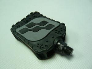Педали FP-860 пластиковые с прорезиненной накладкой, чёрно-серые