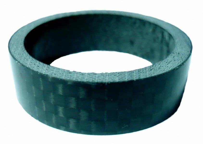 """Кольцо рулевой колонки 1-1/8"""" Н=10мм Neco СS3510 Carbon, чёрное"""