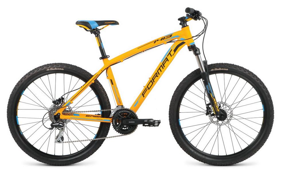 """Велосипед 26"""" Format 1413 (M"""") 24ск, AL, Disc, оранжевый, модель 2016"""