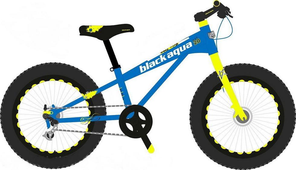 "Велосипед 20"" Black Aqua Fat GW-T16B803 7ск, алюминиевая рама, Disс, синий"