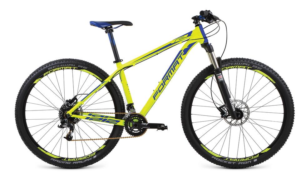 """Велосипед 29"""" Format 1212 (L"""") 20ск, AL, Disc, жёлтый, модель 2017"""