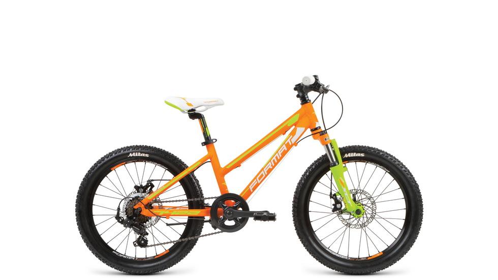 """Велосипед 20"""" Format 7422 girl 7ск, AL, Disc, оранжевый, модель 2017"""