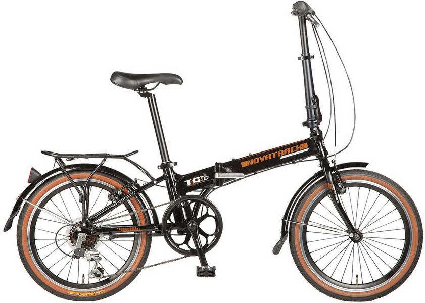 """Велосипед 20"""" Novatrack Tg-20 6ск, складной, St, чёрный"""