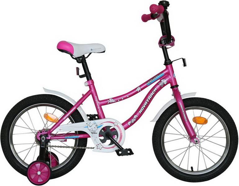 "Велосипед 14"" Novatrack Neptune розовый"