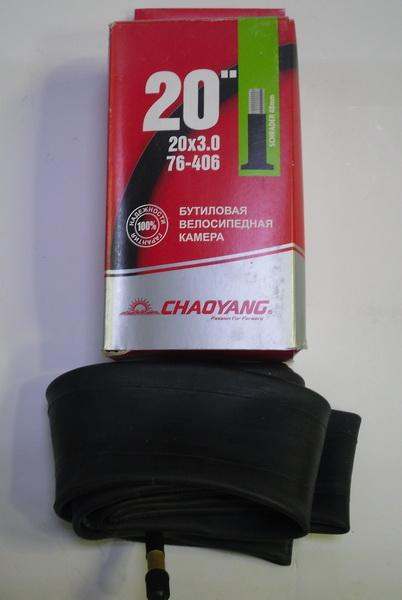"Велокамера 20""х3.0 (406-76) A/V-48 Chao Yang (бутил)   д"