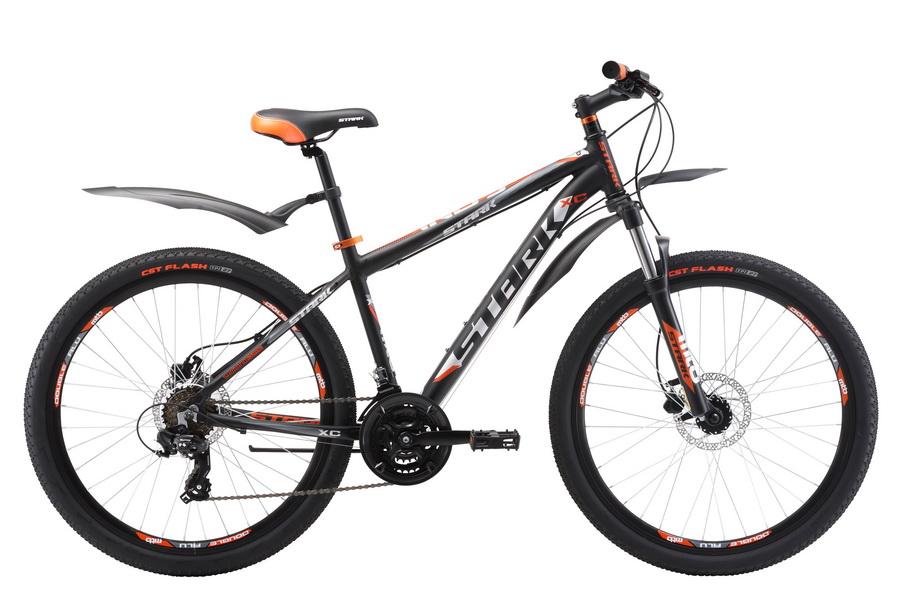 """Велосипед 26"""" Stark Indy 26.2 HD, (18"""") 21ск, AL, Disc, чёрно-оранжевый, модель 2017"""