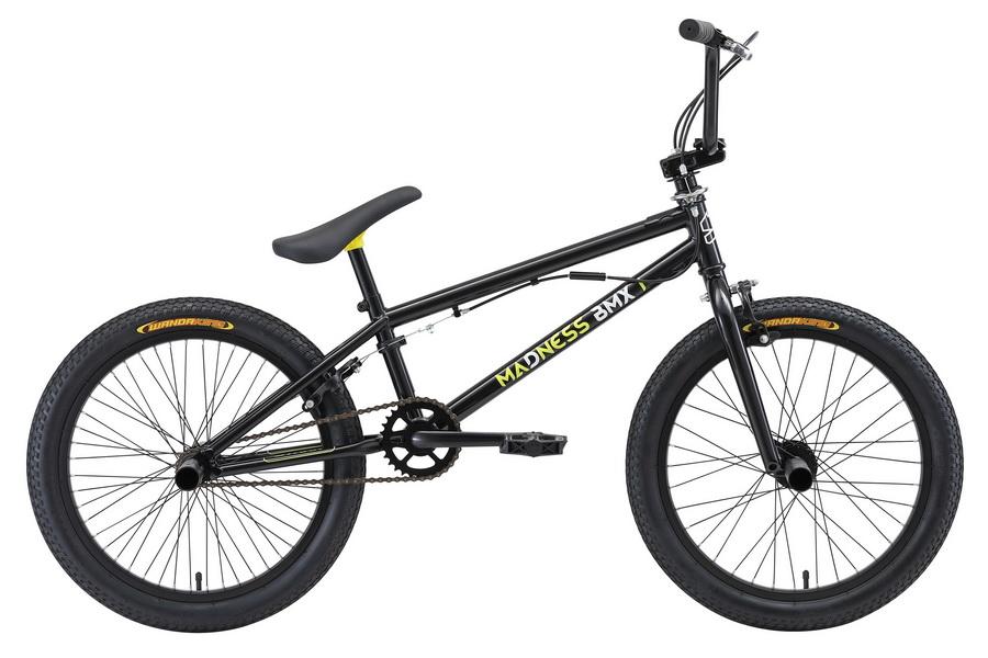 "Велосипед 20"" Stark BMX 1 Madness, St, чёрно-жёлто-белый, модель 2018"