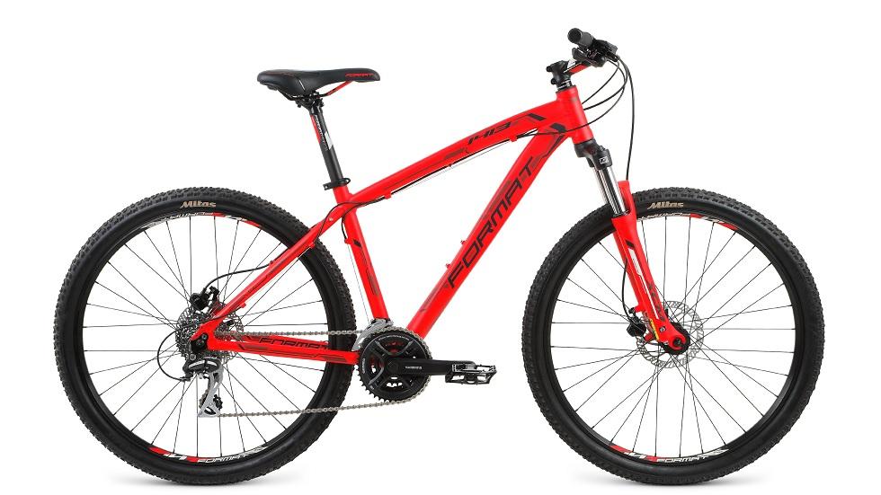 """Велосипед 27.5"""" Format 1413 (M"""") 24ск, AL, Disc, красный"""