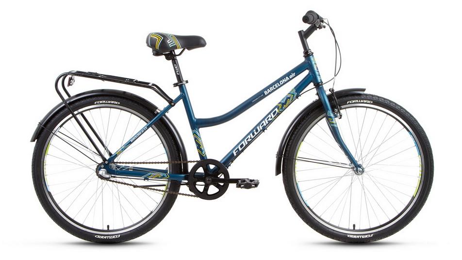 """Велосипед 26"""" Forward Barcelona Air 2.0 (17"""") 3ск, AL, V-br + ножной, бирюзовый, 2018г."""