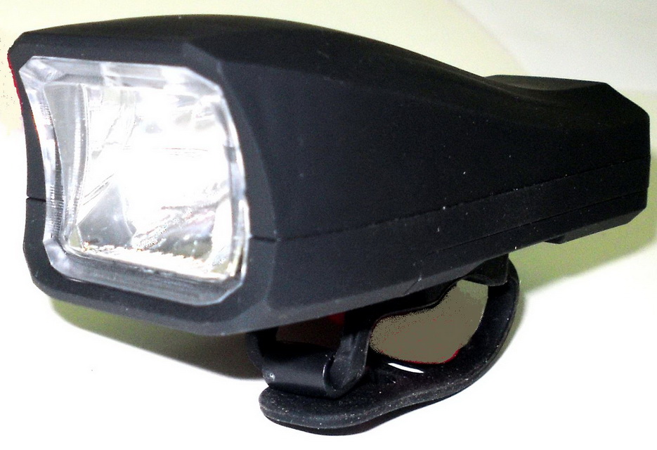 Фонарь передний XingYunXing 1 диод, 4 режима, MX-666, чёрный   ш*