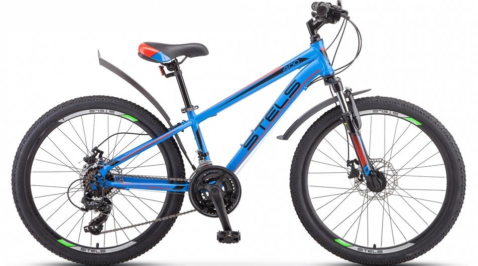 """Велосипед 24"""" Stels Navigator 400 MD F010 (12"""") 18ск, AL, Disc, сине-красный, 2021г."""