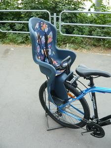 Седло (детское кресло), крепление на багажник, Geng Hung, GH-586, 25кг, синее
