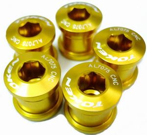 Компоненты Бонки М8-0.75х8.5L AL7075 Token, TK-AL083, золотистые (5шт.)   а