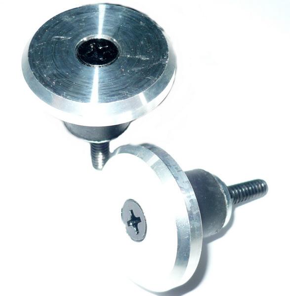 Грипстоппер Velo VLP-40-7 распор., крышка AL серебристая, основание Ø12-20мм эластомер, чёрное   а   *