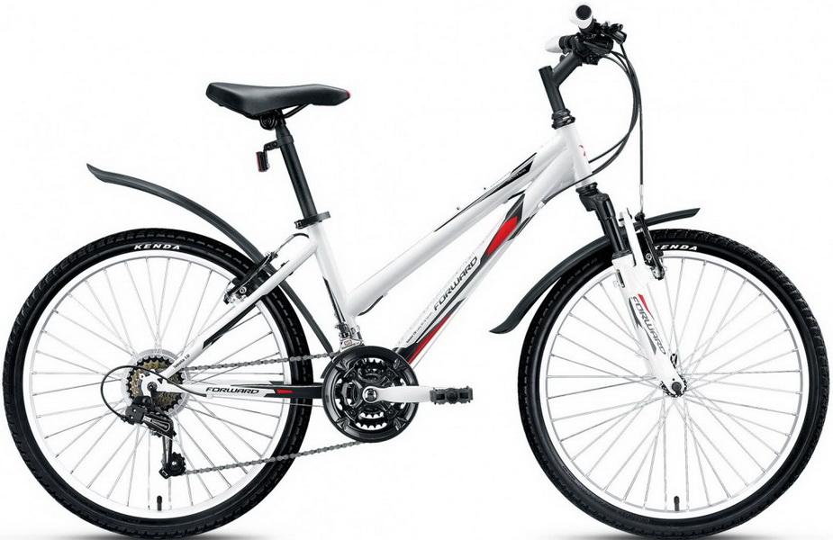 """Велосипед 24"""" Forward Tekota 1.0 18ск, St, V-br, бело-серый"""