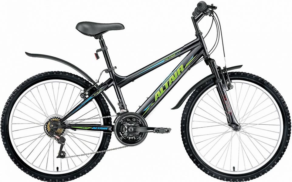 "Велосипед 24"" Altair MTB HT Junior 18ск, St, V-br, чёрный"