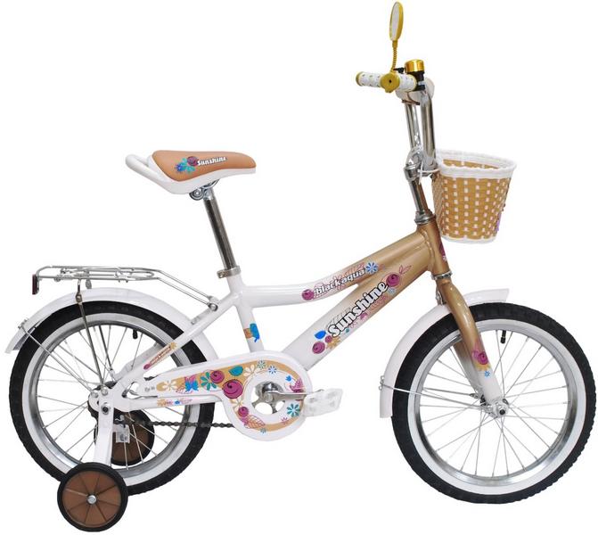 "Велосипед 14"" Black Aqua Sunshine KG1422 алюминиевая рама, бежевый"