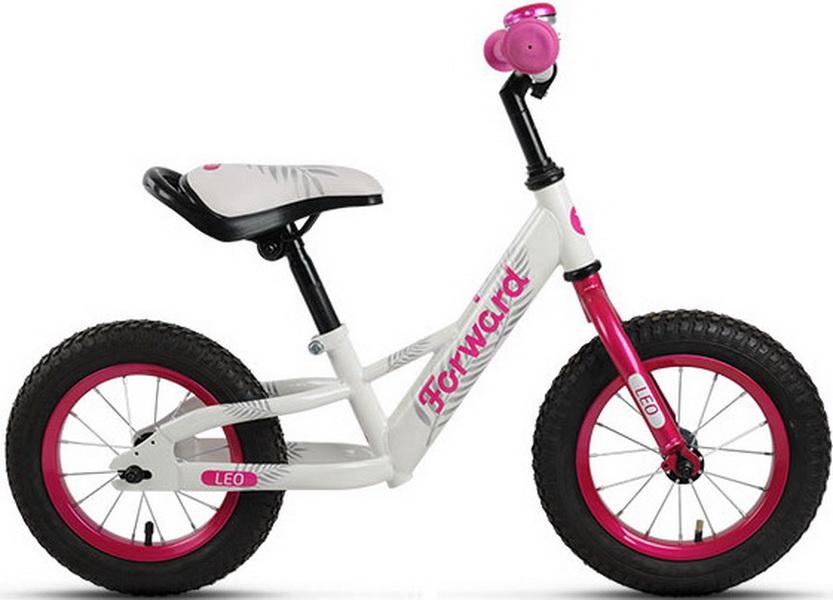 "Велосипед 12"" Беговел Forward Leo St, белый"