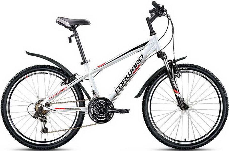 """Велосипед 24"""" Forward Twister 1.0 18ск, алюминиевая рама, V-br, белый, 2018г."""