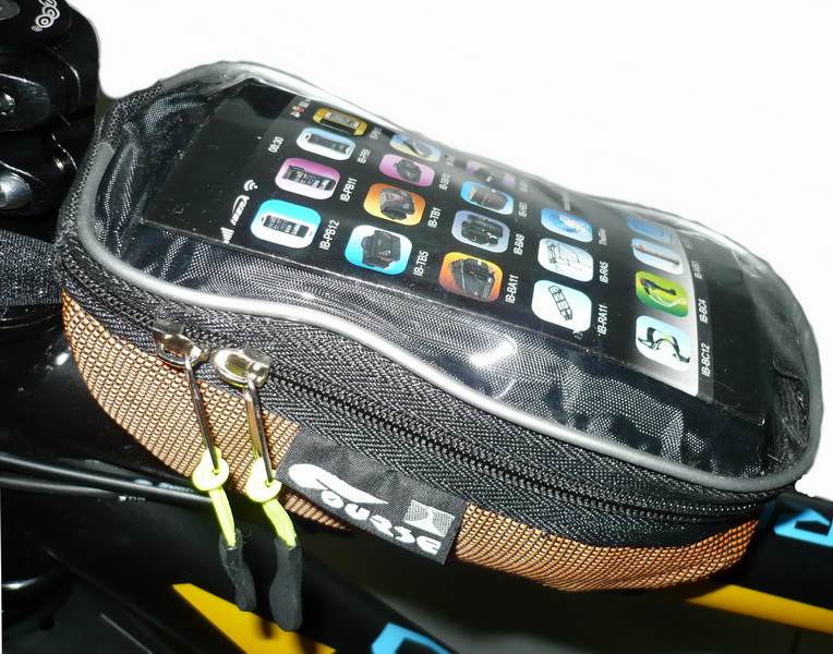 Сумка на раму Course, мастер, вс072.019, с карманом для смартфона, оранжевая