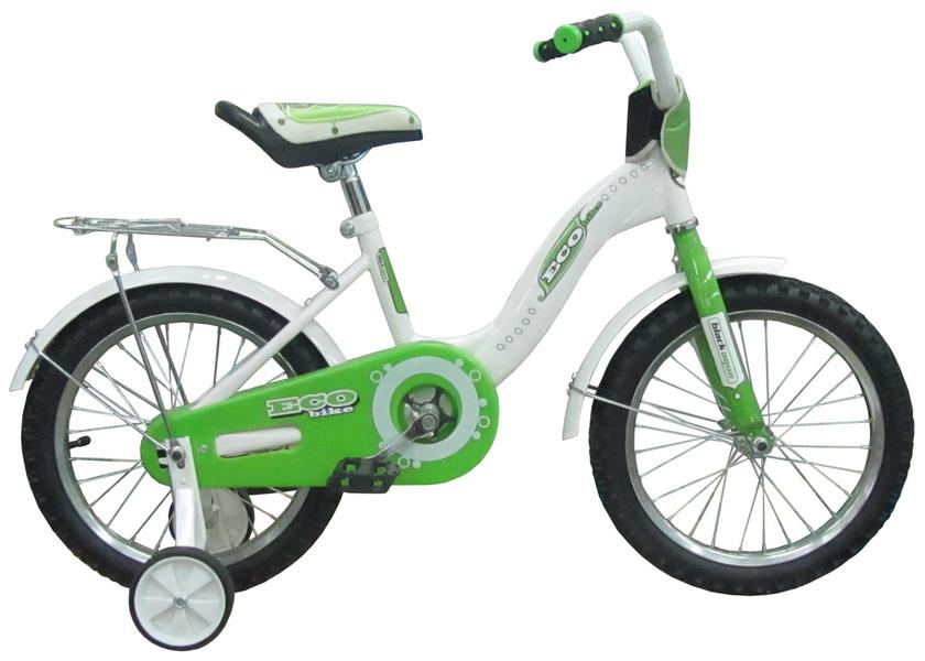 """Велосипед 12"""" Black Aqua Ecobike KG1221 алюминиевая рама, зелёный"""