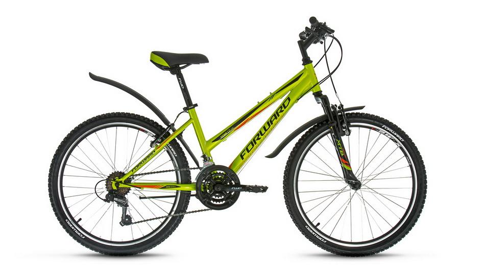 "Велосипед 24"" Forward Titan 2.0 18ск, St, V-br, зелёный, ""low"""