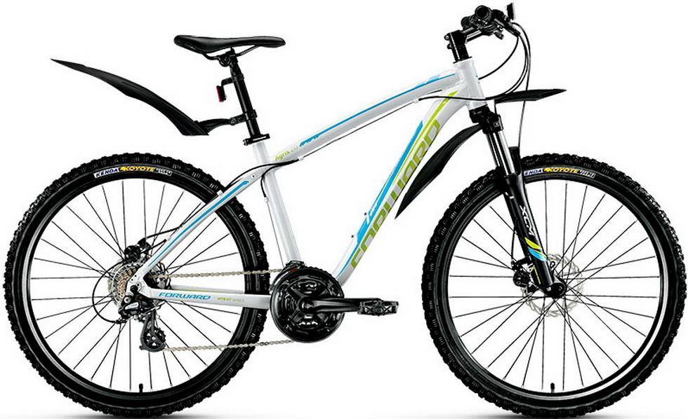 "Велосипед 26"" Forward Agris 2.0 (17"") 21ск, AL, Disc, белый, 2017г."