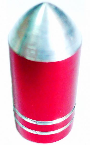 Колпачок (декоративный) A/V AL VLX, VLX-VC08, пуля красная с проточками   а