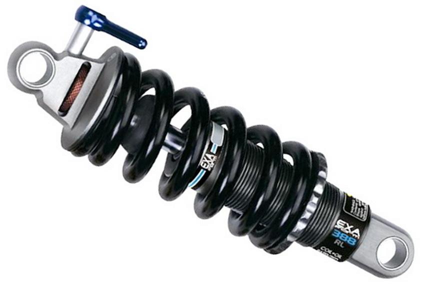 Амортизатор задний L165мм, ход 38мм, с пружиной 850lbs, регулировка:жесткость пружины,блок.,отскок; фрезерованный, с болтами Kind Shock KS-388RLа  **