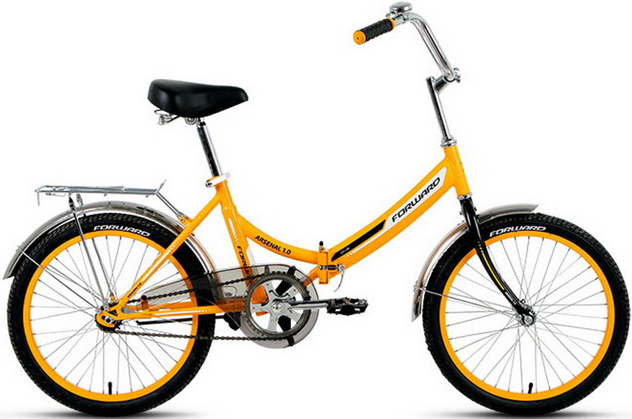 "Велосипед 20"" Forward Arsenal 1.0 складной, St, жёлтый, 2017г."