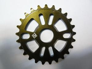 "Звезда BMX 25Т 1/2""х1/8"" 7мм VB VB-ST01-60 фрезерованная, AL-6061 T6, коричневая"