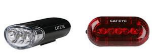 Фонарь задний + передний Cateye, HL-EL135/TL-LD135