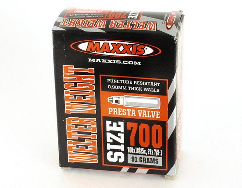 Maxxis велокамера 700x18/25 (622-18/25) 0.9мм presta F/V-60мм Welter Weight (IB81556100)