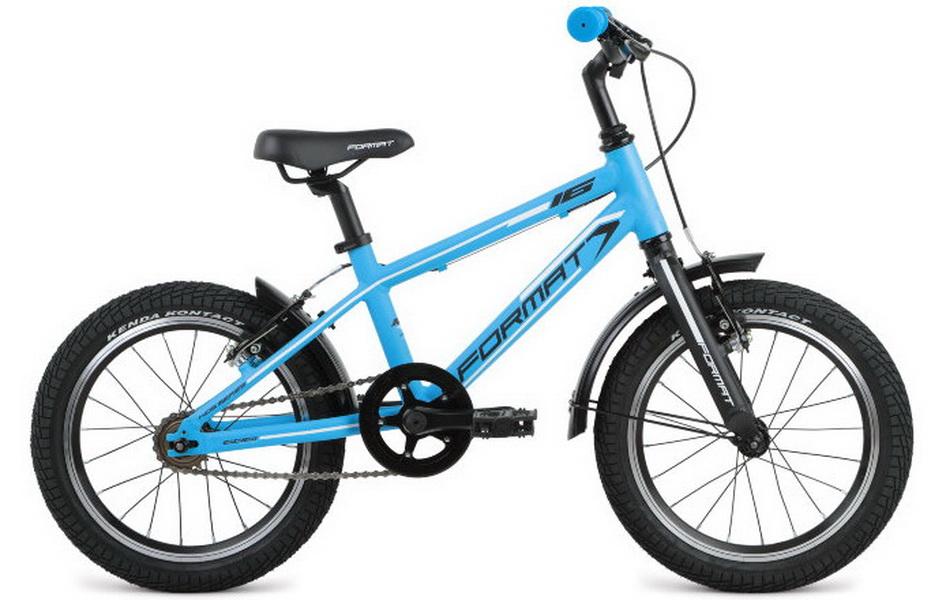 """Велосипед 16"""" Format Kids boy 1ск, AL, V-br, синий, модель 2017"""