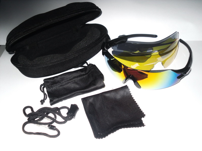 Велоформа Очки Cigna XS-025, оправа чёрная, линзы поликарбонат UV400 - хамелеон, серые, жёлтые