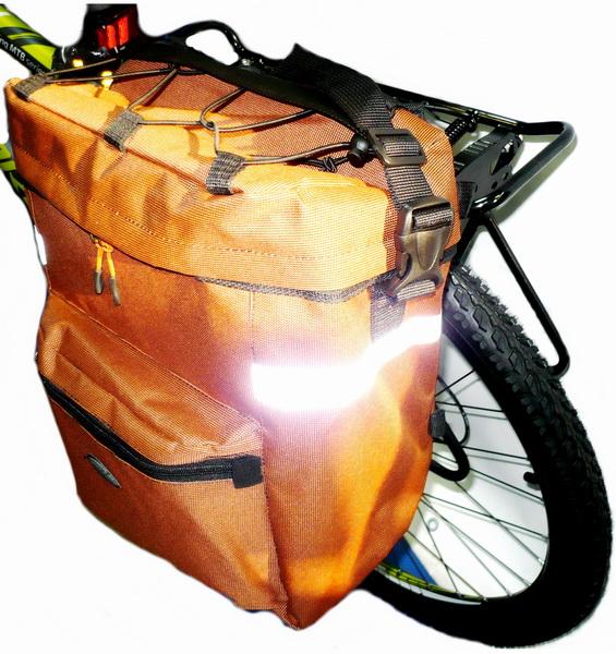 Сумка на багажник Course, сити, вс092.023.1, 23л, оранжевая
