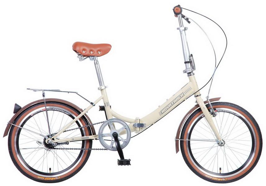 """Велосипед 20"""" Novatrack Aurora, Nexus 3ск, складной, бежевый"""