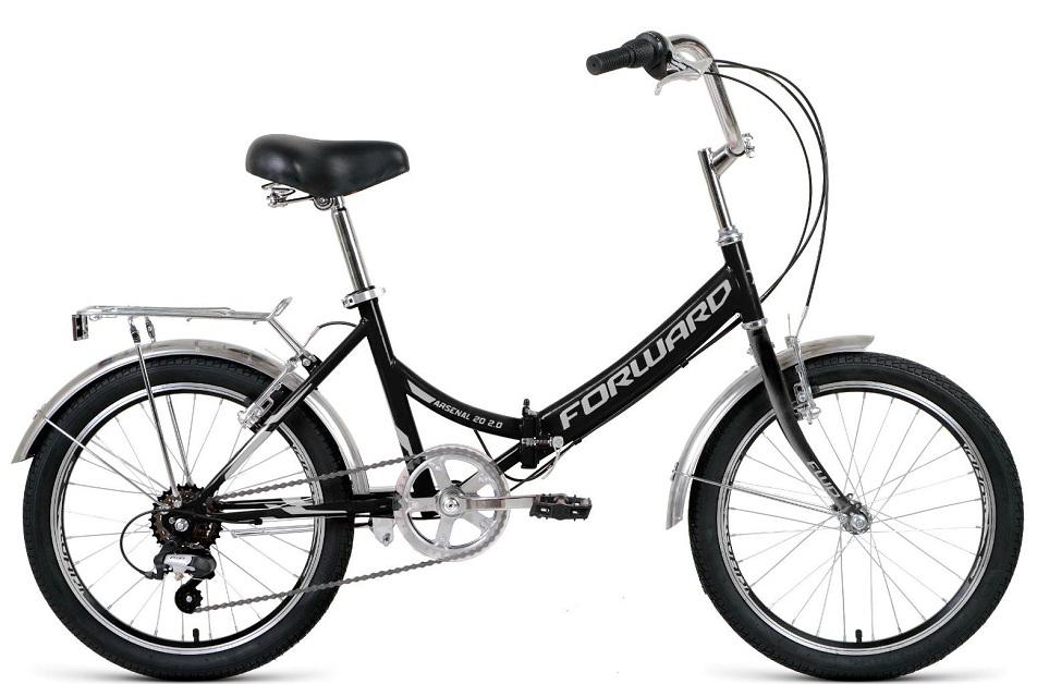 "Велосипед 20"" Forward Arsenal 2.0 6ск, складной, St, V-br, чёрно-серый, 2021г.   скидка 10%"