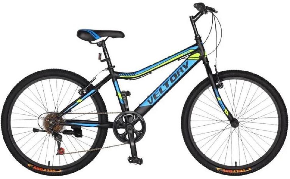 "Велосипед 24"" Veltory 24V-4000 (13"") 6ск, St, V-br, чёрный, 2021г."