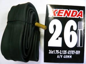 "Kenda велокамера 26""х1.75/2.125 (559-47/57) 0.87мм A/V-48мм (514123)"