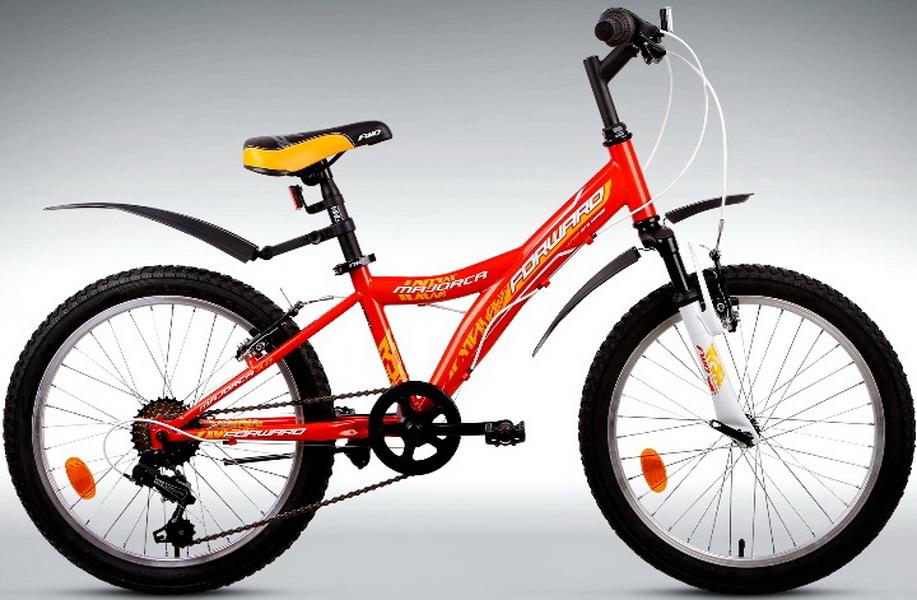 """Велосипед 20"""" Forward Majorca 3.0 6ск, St, V-br, оранжевый"""