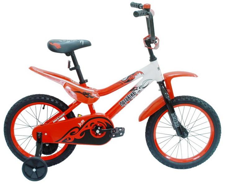 """Велосипед 16"""" Black Aqua Motobike KG1620 алюминиевая рама, красный"""