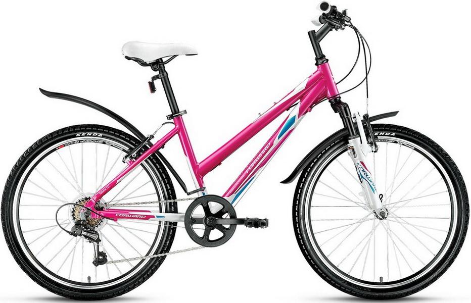 """Велосипед 24"""" Forward Tekota 1.0 18ск, St, V-br, розово-белый"""