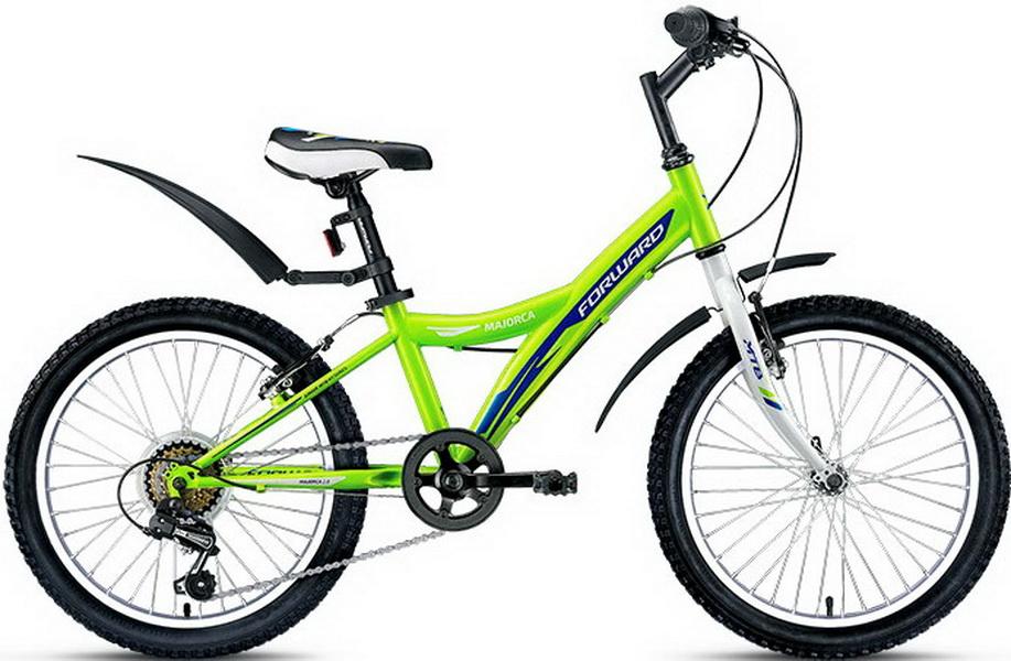 "Велосипед 20"" Forward Majorca 2.0 6ск, St, V-br, зелёный"